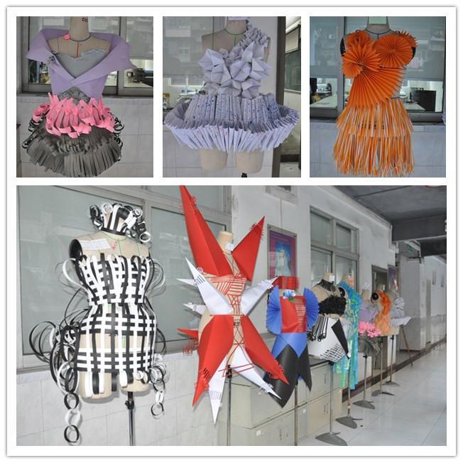 """服装设计专业41班全体同学用""""各种各样的纸张""""进行个性创作,打造出"""