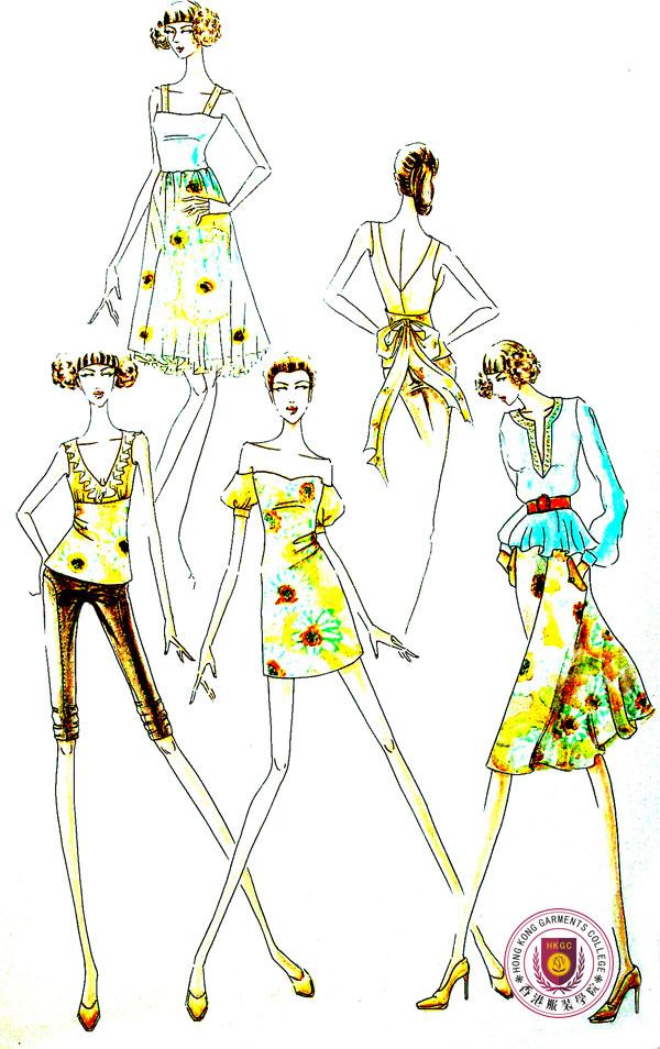 學生服裝設計效果圖作品