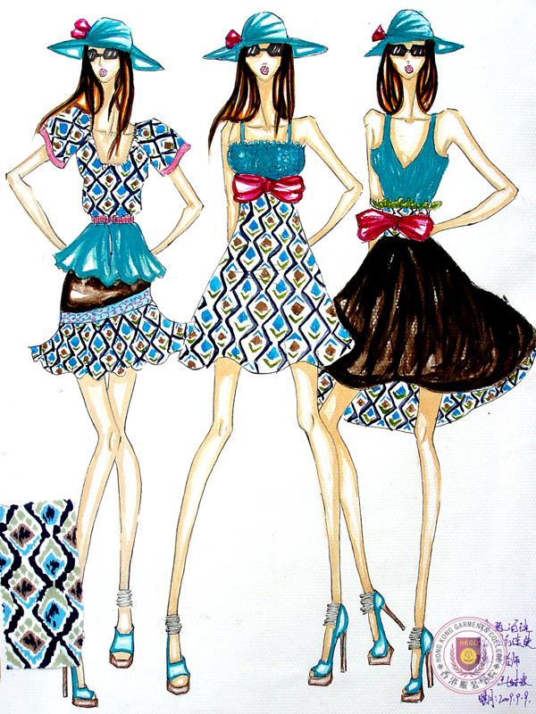 学生服装设计效果图作品