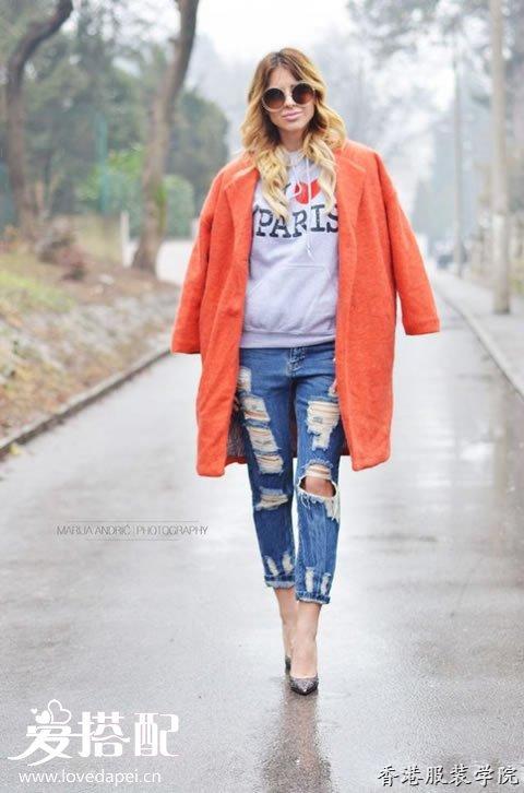 橙色大衣怎么搭配?冬季穿出百变风格