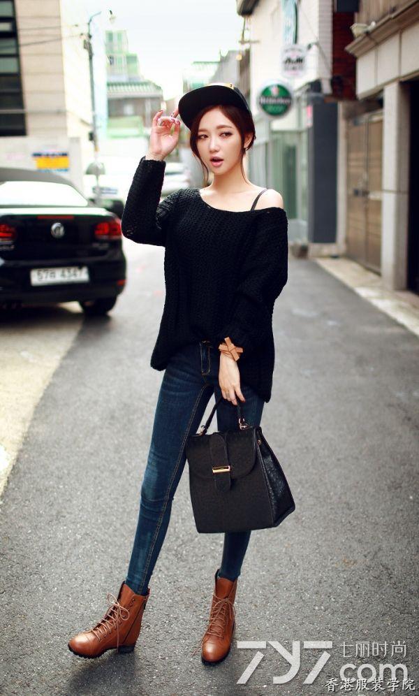 黑色毛衣怎么搭配?将高冷范儿进行到底