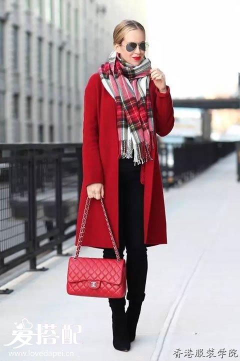 大衣怎样搭配围巾最时尚?