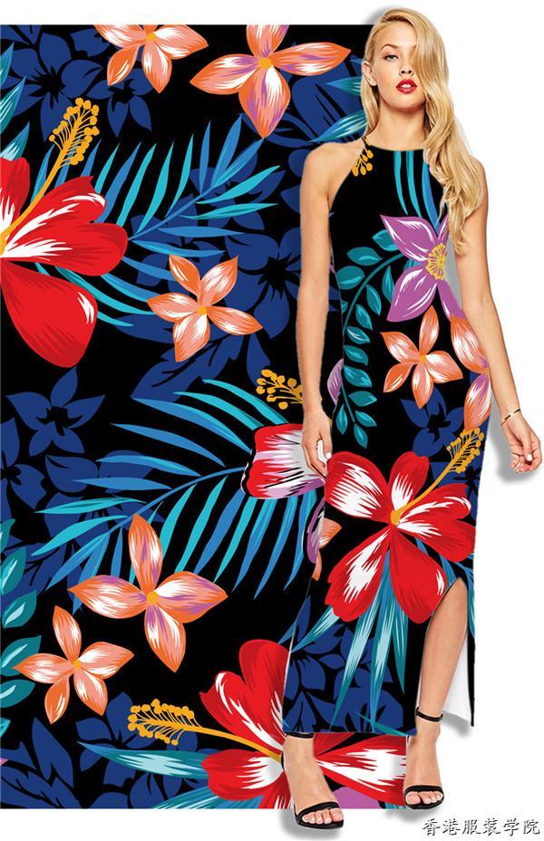 2018春夏女装图案/花型流行趋势:盛夏热带风暴