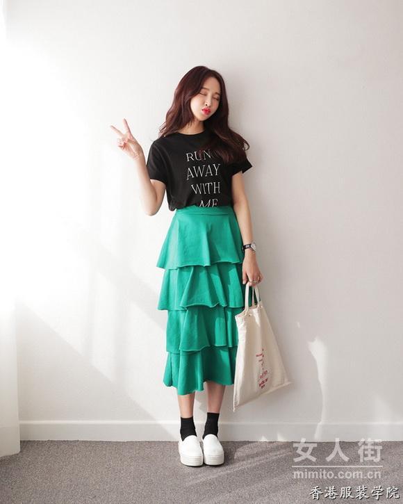 服装设计显瘦裙子