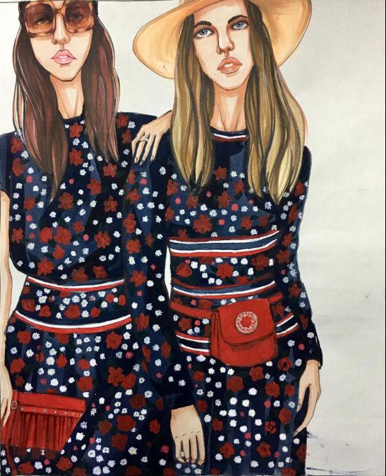 学生服饰设计作品 | 时装画技法作品