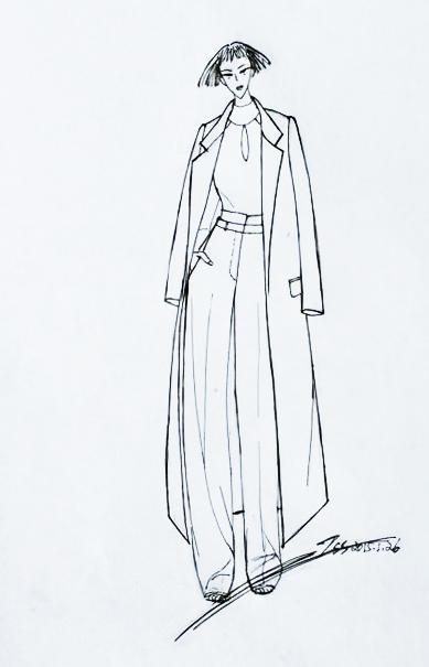 中性风格服装图片手绘